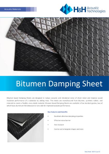 Acoustic Bitumen Damping sheets