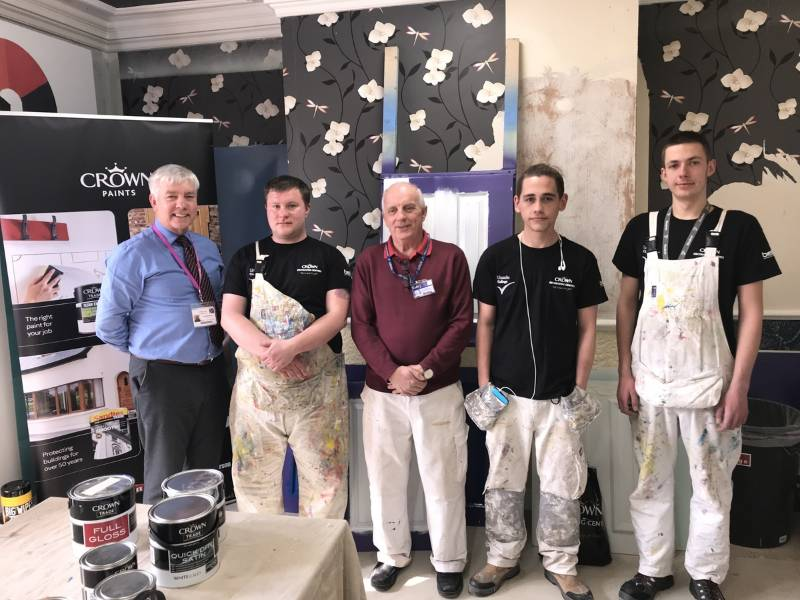 Lincoln students get confident with colour at Bell Decorating Academy thanks to Crown Paints
