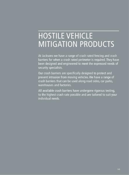 Hostile Vehicle Mitigation Applications