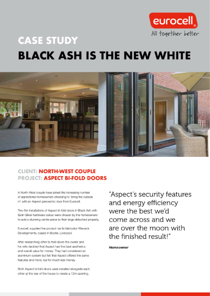 North-West Couple Aspect Bi-Fold Case Study
