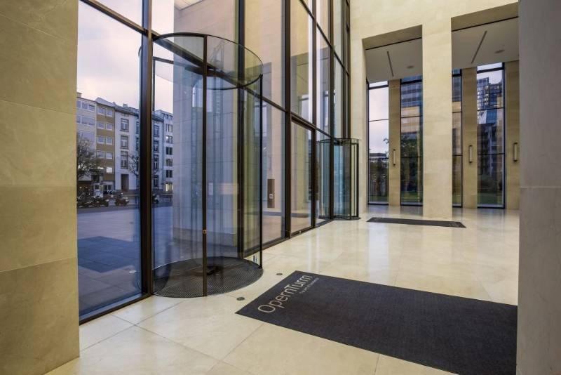 All Glass Circular Full Vision Revolving Doors, Opernturm Offices, Frankfurt