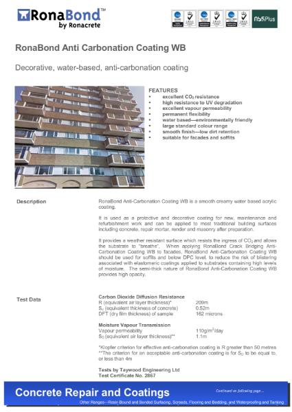 RonaBond Anti-Carbonation Coating WB