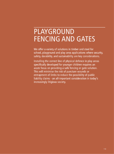 School Playground Fencing and Gates