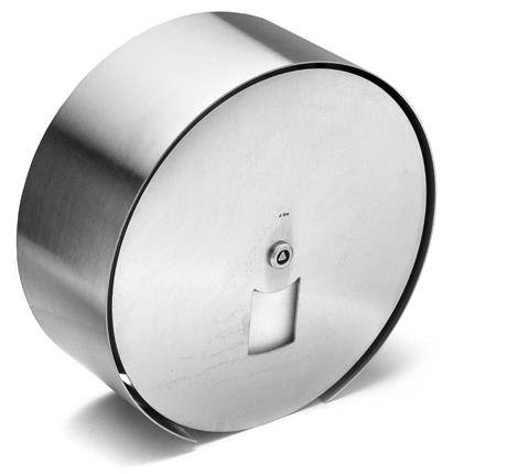Small Maxi toilet roll holder, steel front