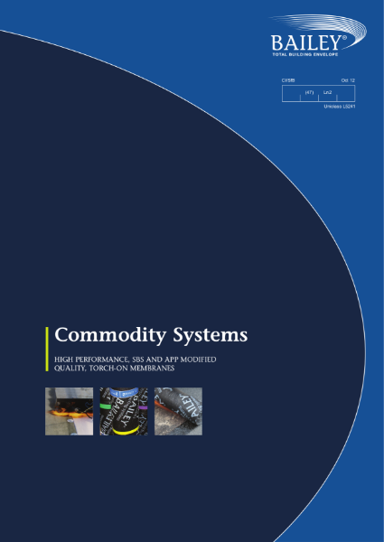 Commodity Systems: High performance, SBS and APP Modified Quality, Torch-on Membranes