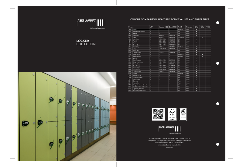 Lockers Wallchart