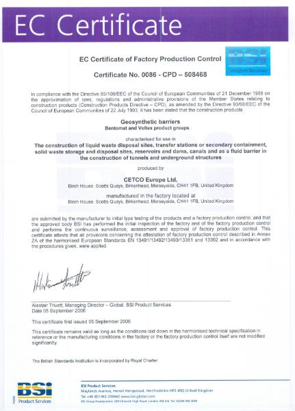 BSI EC Certificate