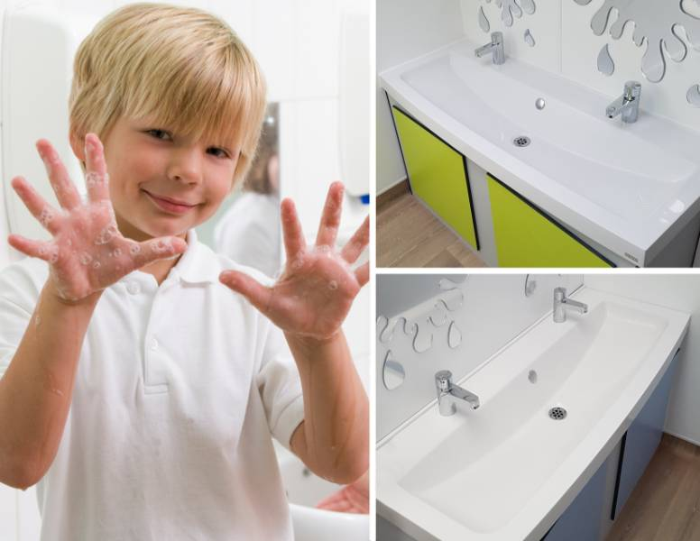 Franke solid surface washtroughs chosen for Leicester primary school
