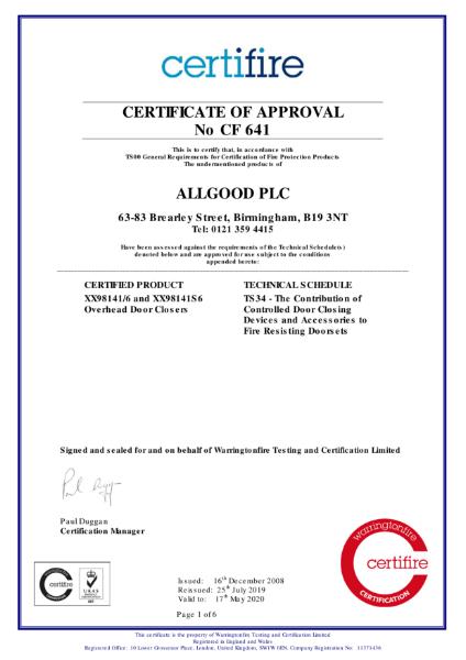 Certifire Certificate CF 641