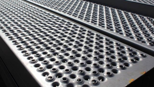 Perforated Metal Planks (Stainless Steel)