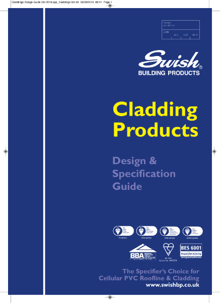 Swish Cladding Products: Design & Specification Guide