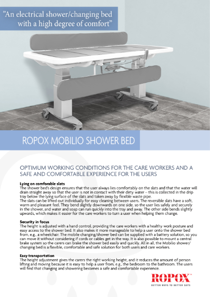 Ropox Mobilio Shower Bed