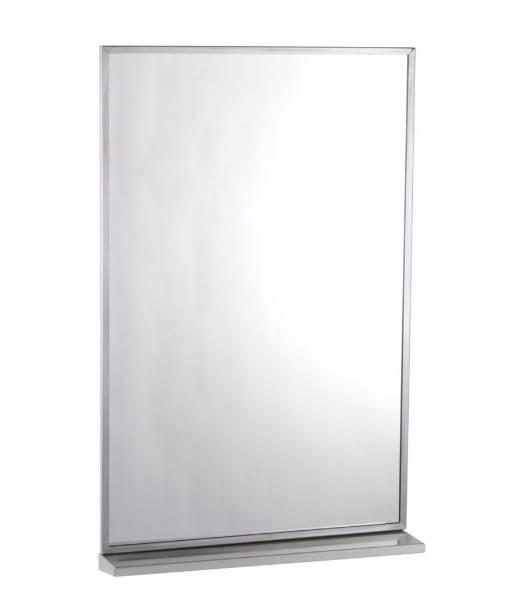 Series Channel-Framed Mirror/ Shelf Combination B-166