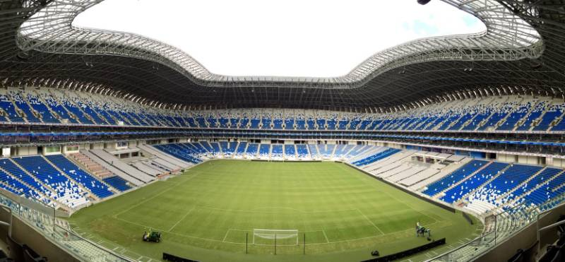 Roof walkways installed at striking football stadium