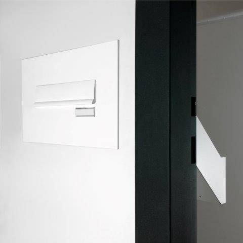 2002 - SBD Compliant, Small Telescopic Sloping Through-Wall Mailbox