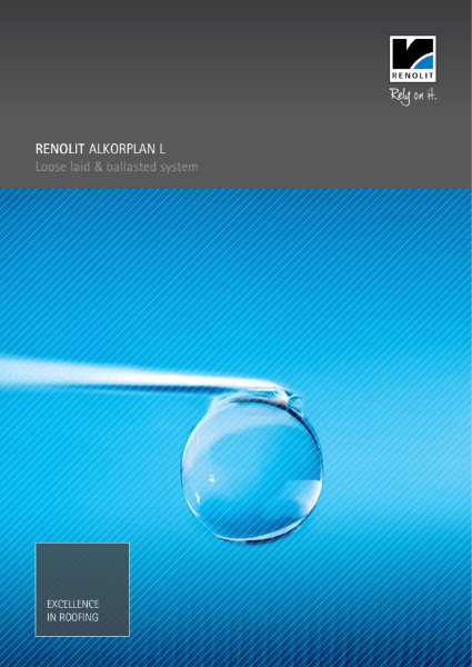 ALKORPLAN Lwaterproofing membrane single ply  Loose Laid & Ballasted System