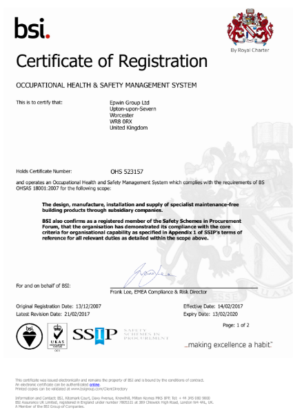 BS OHSAS 18001:2007 Occupational Health and Safety Management System