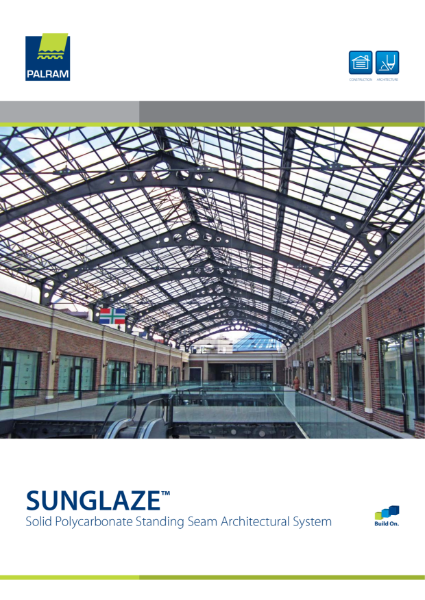 Sunglaze Solid Polycarbonate Standing Seam Panel System