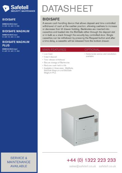BidiSafe - Cash Recycling Unit