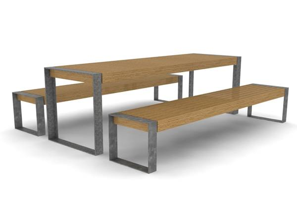 Elements® Picnic Benches and Table