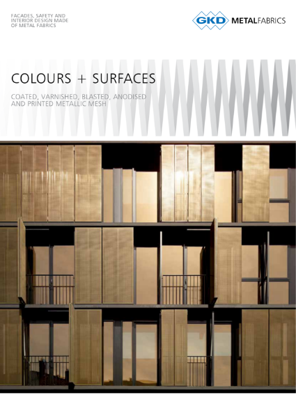 04 - Colours and Surfaces - GKD Creative Weave