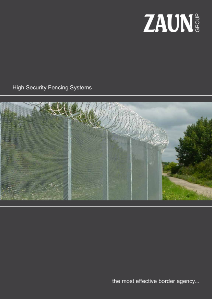High Security Perimeter Fencing