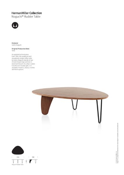 Noguchi Rudder Table - Product Sheet