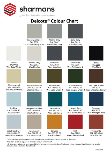 Delcote Colour Chart