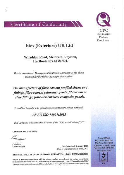 BS EN ISO 140001 2015