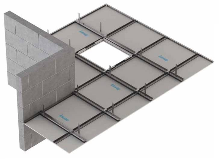 Fire Protection to Floor or Roof Cavity above: Knauf C-Form-Soffit Lining CF2/13