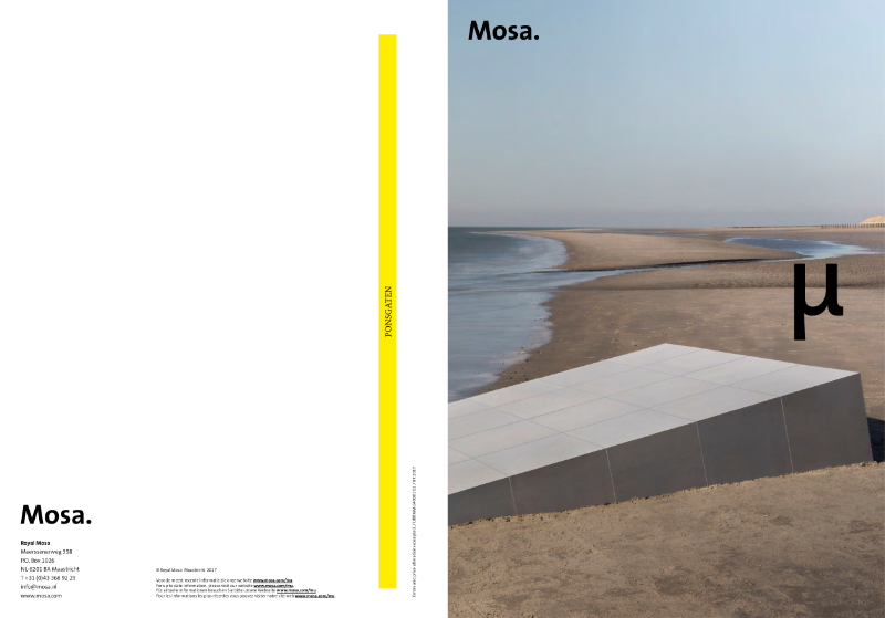 01. Mosa µ [Mu] - Contemporary ceramic surfaces with a versatile and playfully ever-changing appearance.
