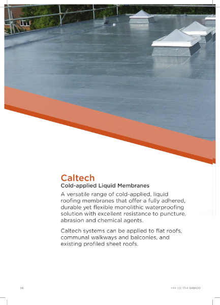 Caltech Cold-Applied Liquid Roofing Brochure