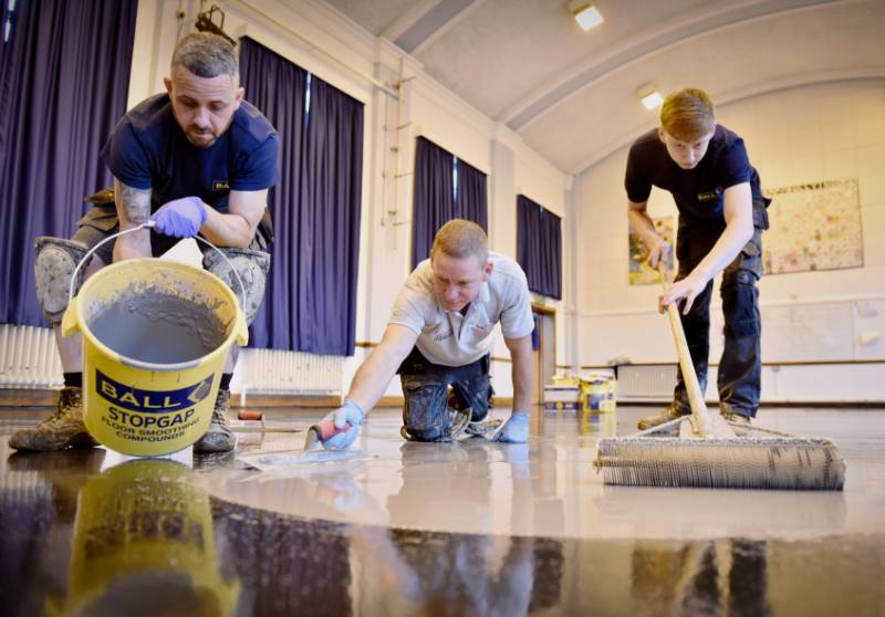 Alleyne's Academy, Stone - F. Ball products help with A* refurbishment at Staffordshire school