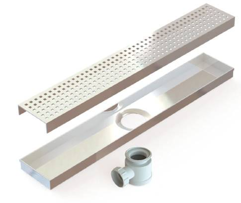 KLSD(SP) Linear Shower Drain (Square Perforated)