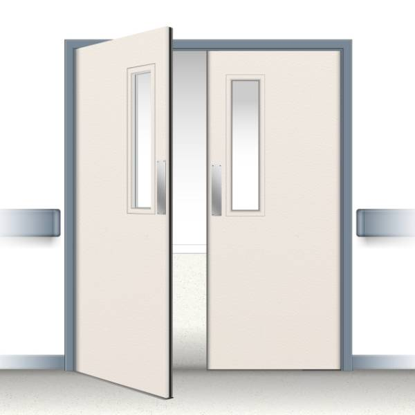 Postformed Double Swing Doorset - Vision Panel 1
