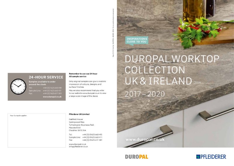 Duropal Worktop Collection UK & Ireland 2017 - 2020