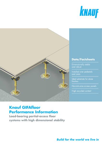 Knauf GIFAfloor Flooring Specification Sheets