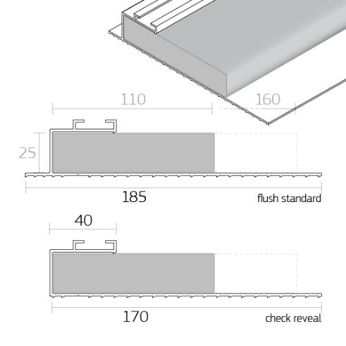 Dacatie TF1000 / TF2000 Insulated Cavity Closer for window and door reveals