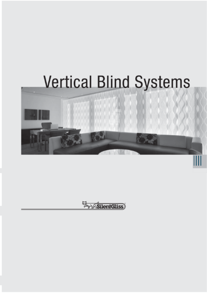 Vertical Blind Systems by Silent Gliss