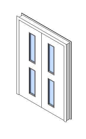Internal Double Door, Vision Panel Style VP02