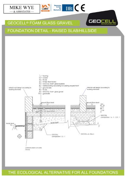 Foundation Detail - Raised Slab Hillside