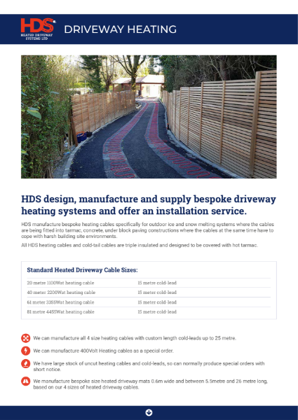 Driveway Heating information