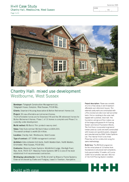 Case Study - Chantry Hall: mixed use development