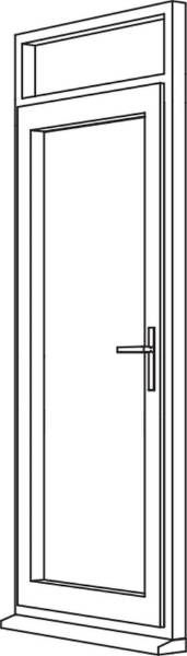 Traditional 2500 Residential Door - R3 Open Out