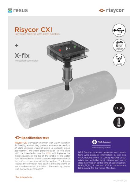 Risycor CXI-fix set Technical Datasheet EN V2 00