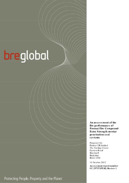 Etex Promat BRE Fire Performance Extra Strength Assessment
