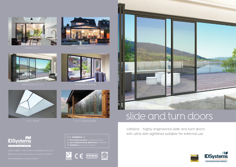 IDSystems vistaline aluminium slide & turn doors