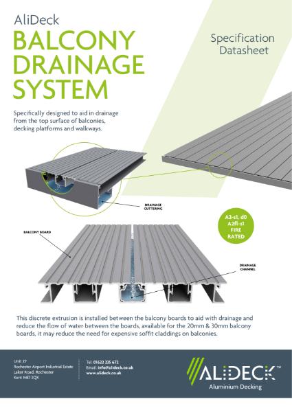 AliDeck Balcony Drainage System Datasheet