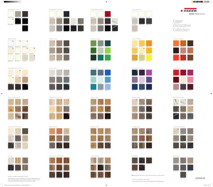 EGGER Decorative Collection 2020-22 Range Summary