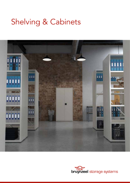 Brochure Bruynzeel Shelving and cabinets